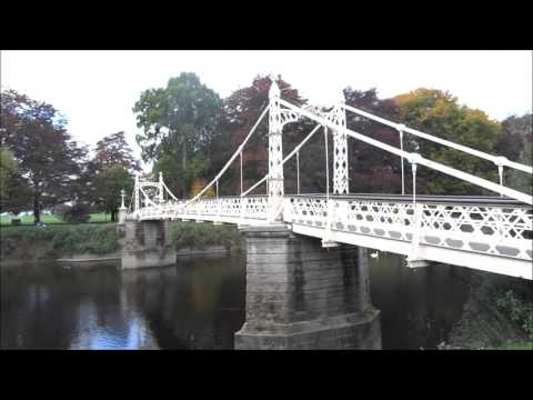 VICTORIA BRIDGE AND RIVER WYE HEREFORD 2015