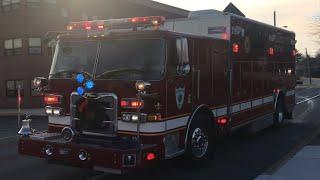 Minquas Fire Company Rescue 23 Responding & Fire Siren Activation