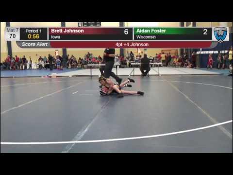 6017 Bantam 70 Brett Johnson Iowa vs Aidan Foster Wisconsin 7864166104