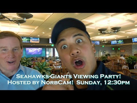 You're invited to my Seahawks-Giants Viewing Party at Emerald Downs Casino!