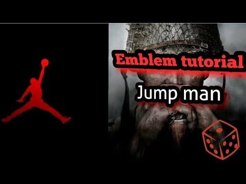 Jumpman Air Jordan logo!!!! *COD WW2 emblem tutorial