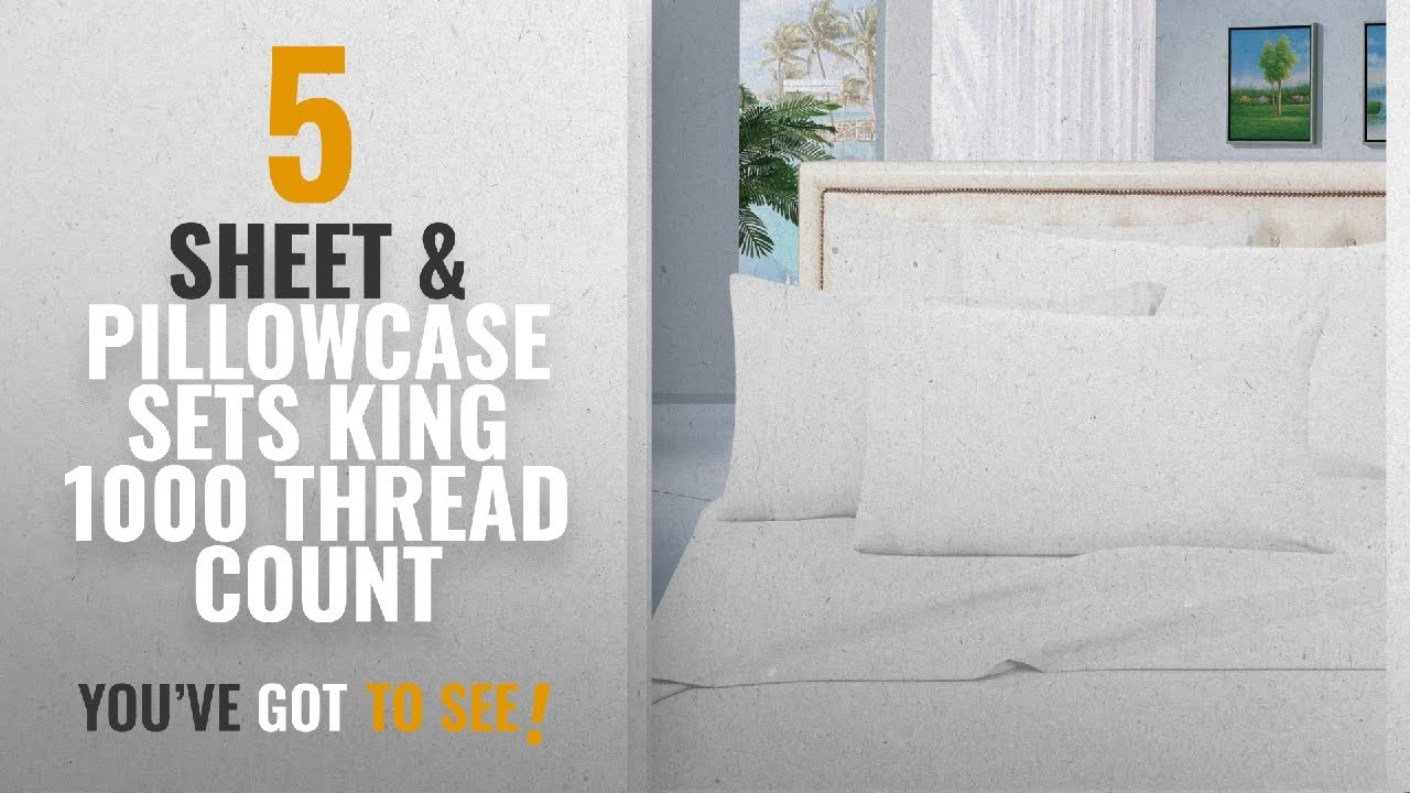 Top 10 Sheet Pillowcase Sets King 1000 Thread Count 2018 True Luxury 100 Egyptian Cotton