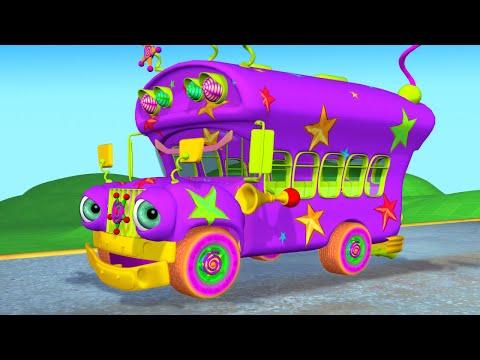 Wheels On The Bus Nursery Rhyme + More Kids Songs