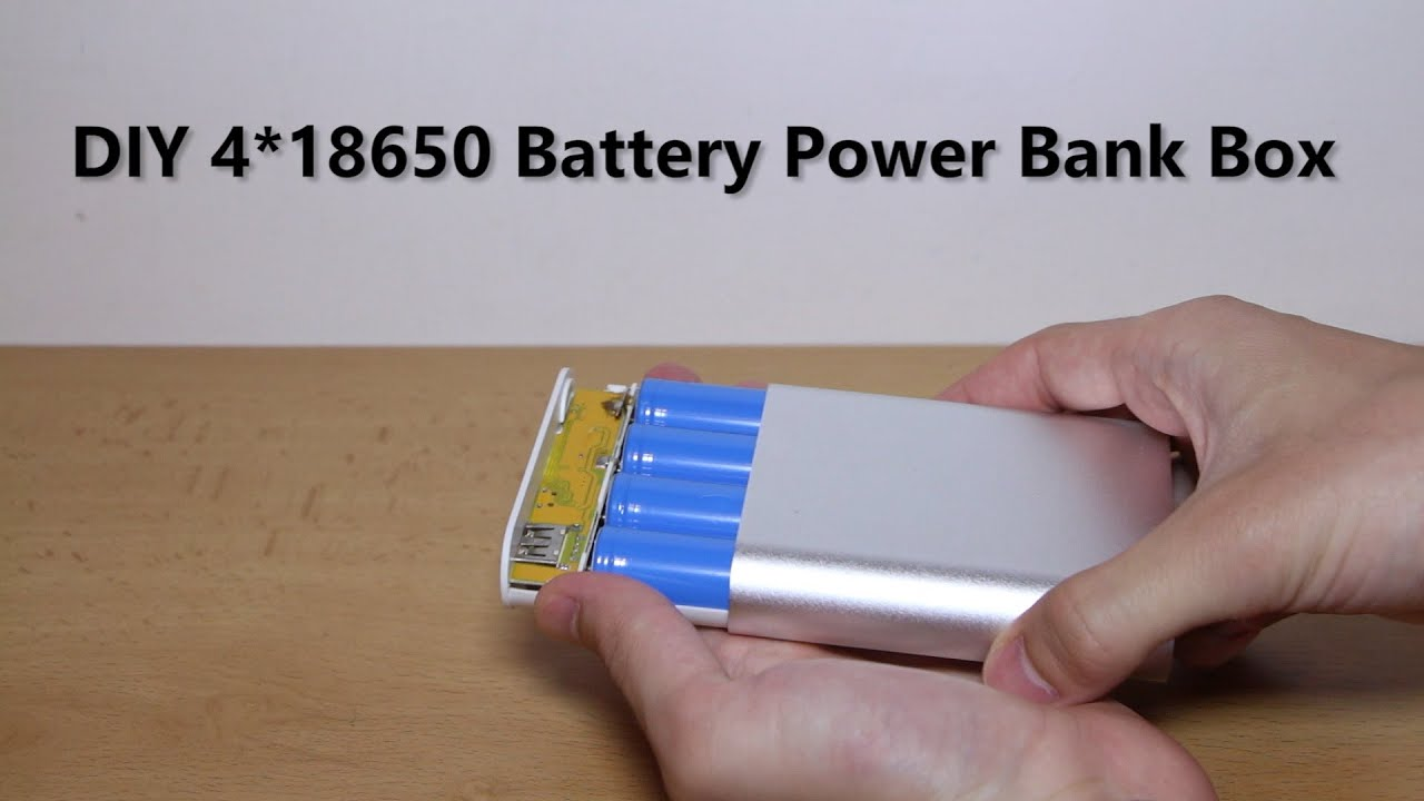 preview diy 4 18650 battery power bank box youtube. Black Bedroom Furniture Sets. Home Design Ideas