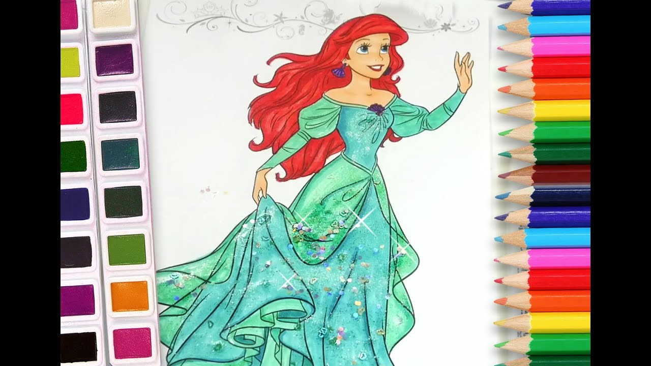 Princess Ariel coloring book Disney princess coloring pages for kids ...