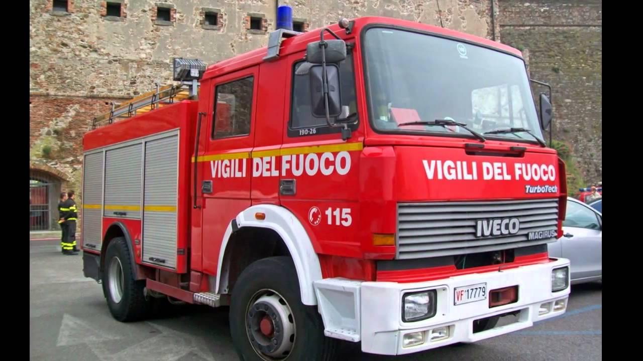 Vigili Del Fuoco Tributo Iveco Magirus Baribbi 190 26 Firetech Hd Youtube