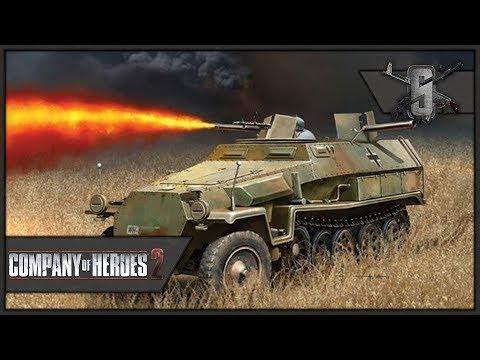 Flamethrower Half-track of DOOM - Company of Heroes 2 - Theater of War: Barbarossa Singleplayer #2
