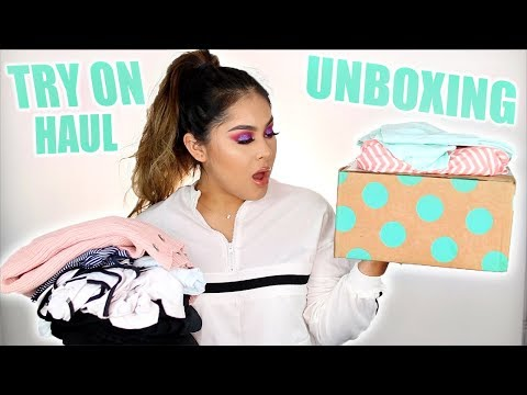 UNBOXING & TRY ON HAUL FIRST IMPRESSIONS!