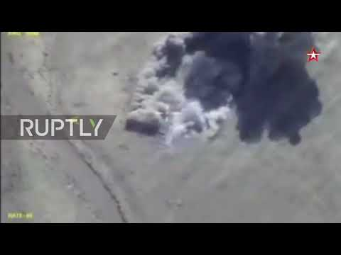 Syria: Russian airstrikes destroy militant vehicles and large calibre weapons headed for Deir ez-Zor