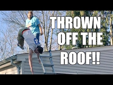 SKINNY KID THROWN OFF THE ROOF! GRIM GETS...
