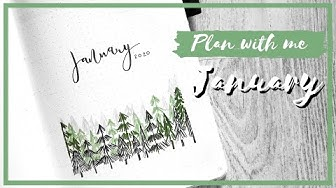 PLAN WITH ME JANUARY🌲🖋 - Bullet Journal Suomi 2020
