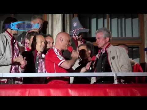 Jupp Heynckes @ FCB Meisterfeier 2013 auf dem Rathausbalkon