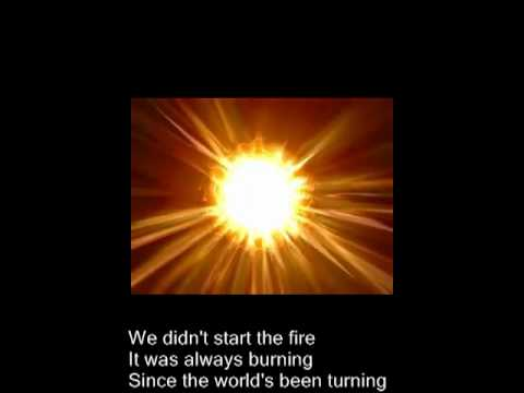we didnt start the fire Billy joel's we didn't start the fire music video in high definition learn the full song lyrics at metrolyrics.