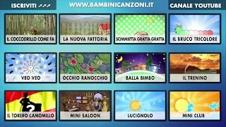 INDICE INTERATTIVO - CANZONI PER BAMBINI E BIMBI PICCOLI - ITALIAN BABY DANCE MUSIC VIDEO INDEX