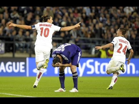 Zlatan Ibrahimovic vs Anderlecht HD - Amazing long shot goal Vine!
