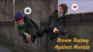 Broom Racing Against Merula Harry Potter Hogwarts Mystery