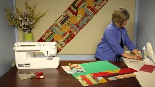 "How To Make Quilting Quickly's ""marmalade"" Table Runner: A Fun Strippy Pattern"