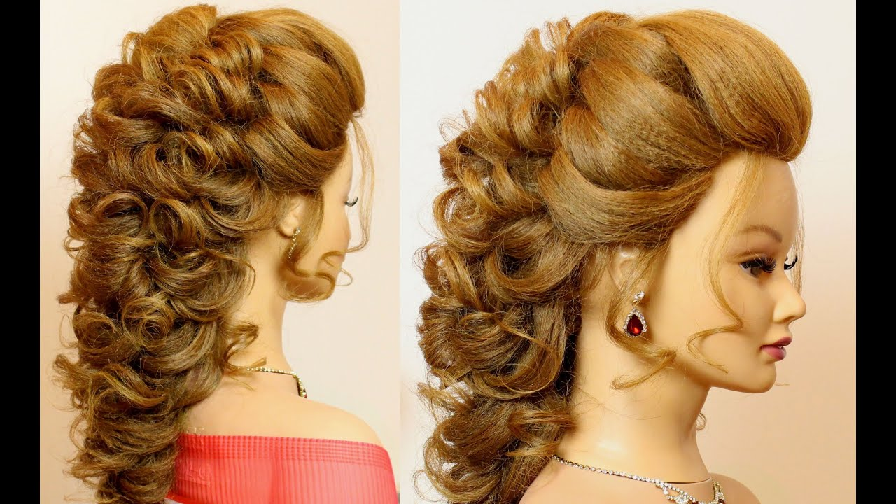 bridal prom hairstyle for long hair tutorial step by step - youtube