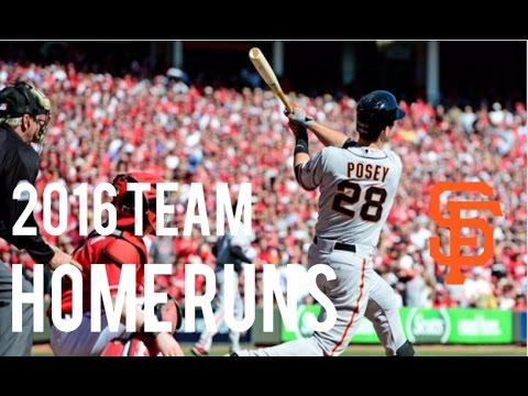 San Francisco Giants | 2016 Home Runs (130)