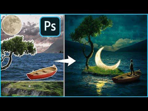 The Lost Moon-Photoshop Manipulation Tutorial