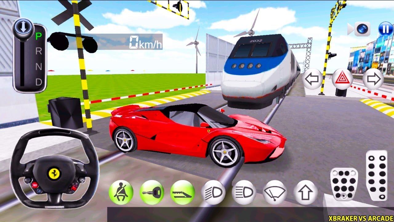 Korean Car Driving Simulator - Ferrrari and Train - Driver's License Examination