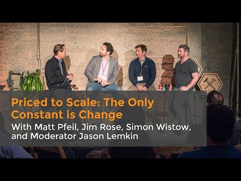 Priced to Scale: The Only Constant is Change Panel at DevGuild: Pricing Strategy
