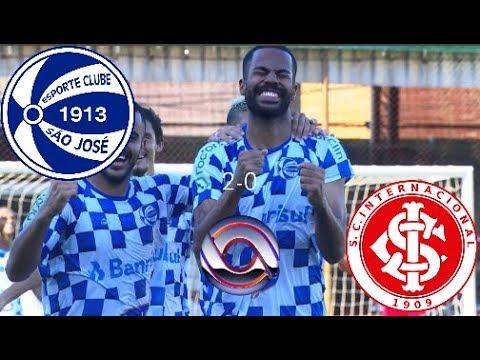 Gols - São José 2 x 0 Inter - Gauchão 2019 - RBS TV HD