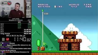 (36:15.95) Super Mario Bros.: The Lost Levels Warpless D-4 (Mario) speedrun *Former World Record*