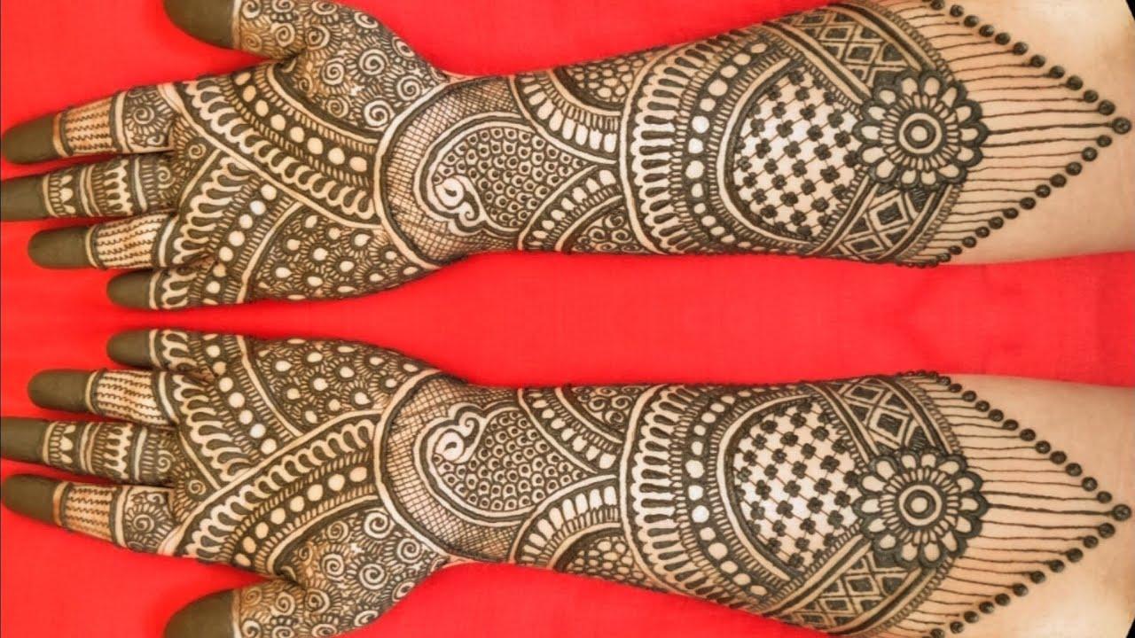 wedding dulhan mehndi design image