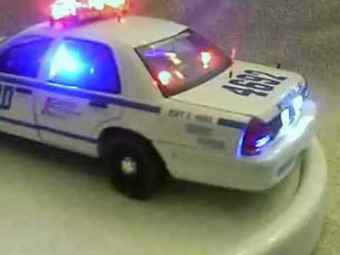 Nypd Hwy Patrol Diecast Model Car With Working Lights Ans