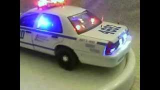NYPD HWY PATROL diecast model car with working lights ans siren