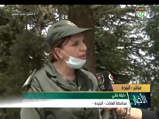 #البليدة تدخل مباشر على التلفزيون الجزائري للسيدة بناني زعلوك دليلة محافظ الغابات لولاية البليدة