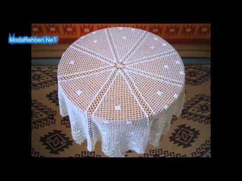 Dantel masa örtüsü modelleri 2015 - YouTube