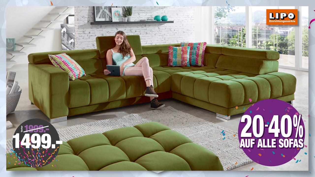 Lipo Tv Specials 20 40 Auf Alle Sofas Youtube
