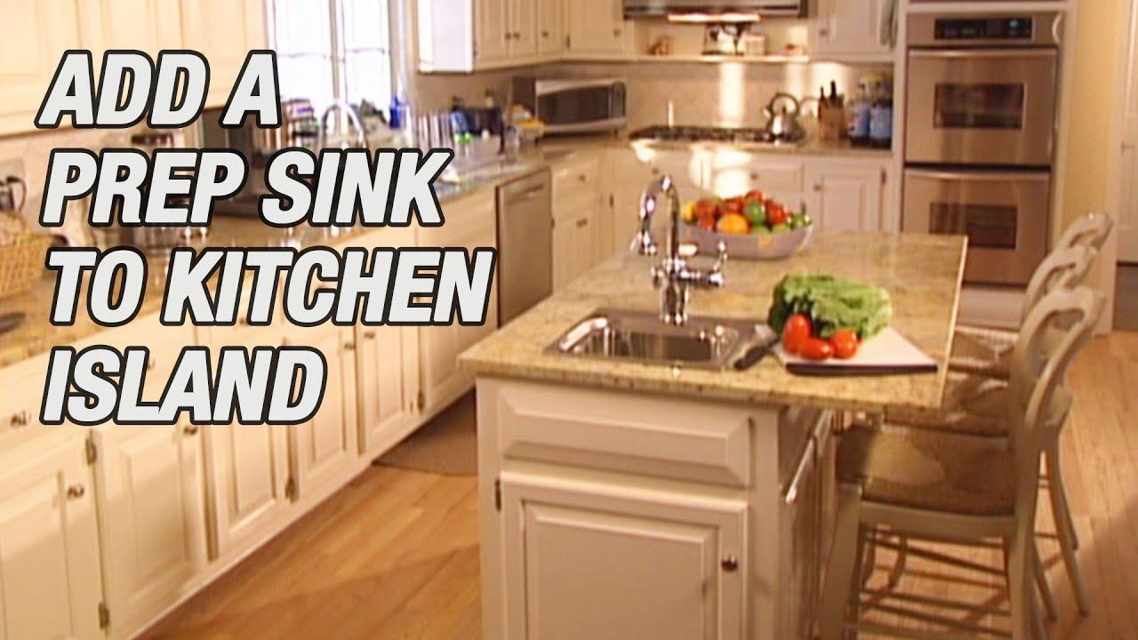 add a prep sink to kitchen island