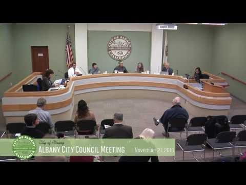 Albany City Council - Nov 21, 2016