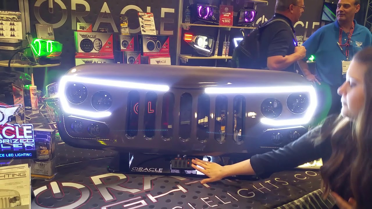 Oracle Lighting Vector Series Full Led Grill Jeep Wrangler Jk