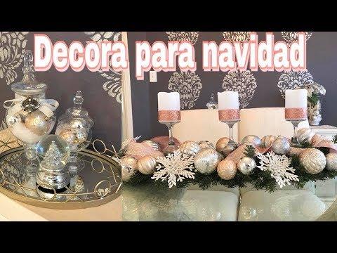 DECORACIONES NAVIDEAS  IDEAS PARA DECORAR TU COMEDOR