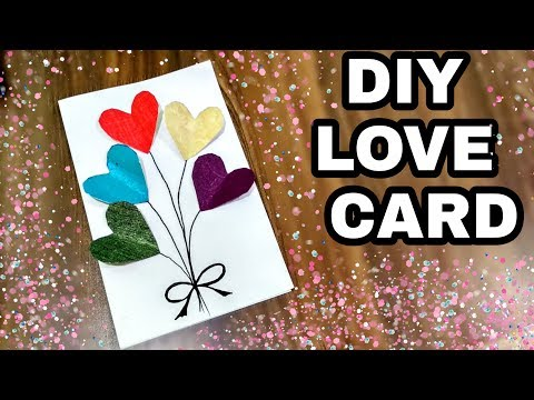 DIY love card/Love card making ideas/love card with paper/easy love card idea by VK's ART HOUSE
