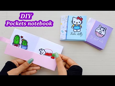 DIY mini pocket notebooks one sheet of paper - DIY BACK TO SCHOOL / Notebook / paper craft /DIY