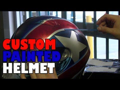 Dave custom painted his helmet