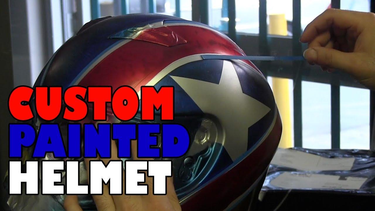Dave Custom Painted His Helmet Youtube