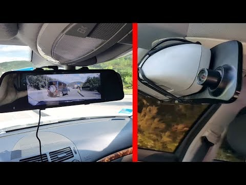 Rear View Mirror With DVR  AUTO-VOX M8  180° 1296P And Backup Camera / Review,  Installation, Test