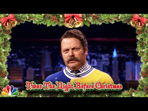 Nick Offerman Reads 'Twas the Night Before Christmas video