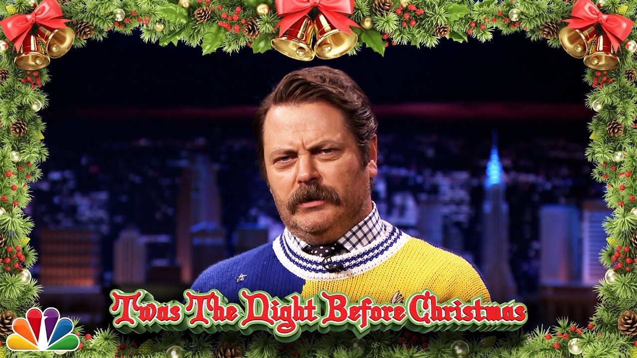 Nick Offerman Reads 'Twas the Night Before Christmas - YouTube