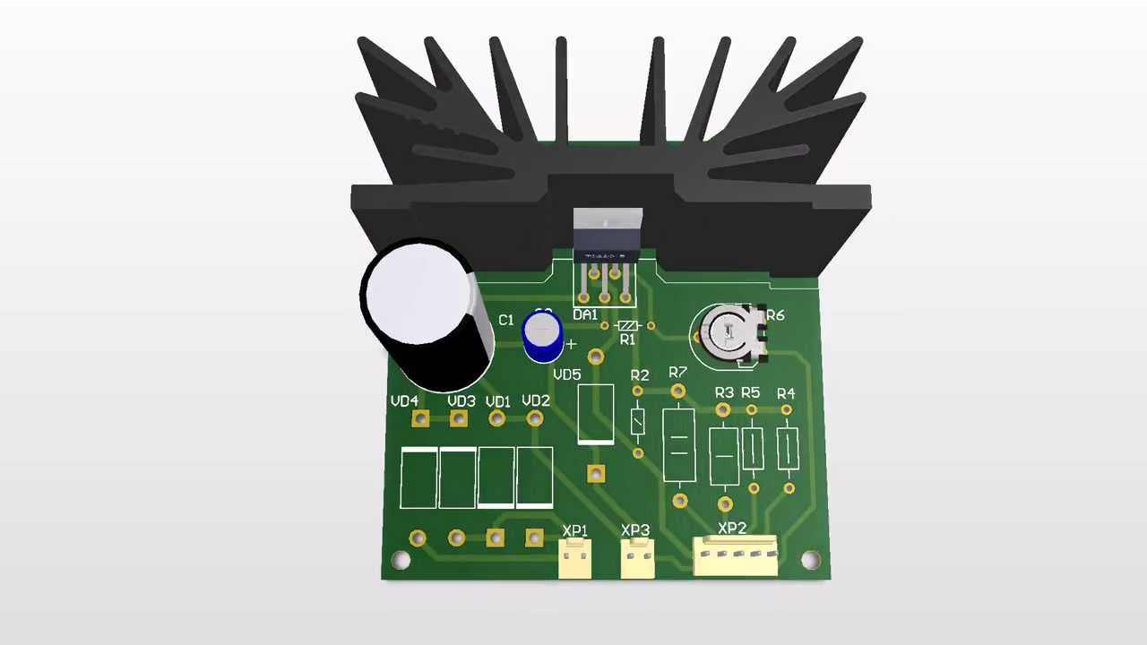 L200 Chip Charger Pcb Design Youtube Variable Voltage Regulator Circuit With