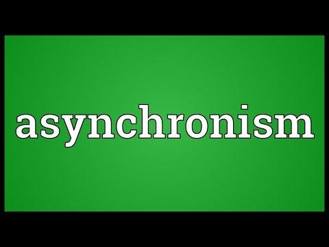 Header of asynchronism