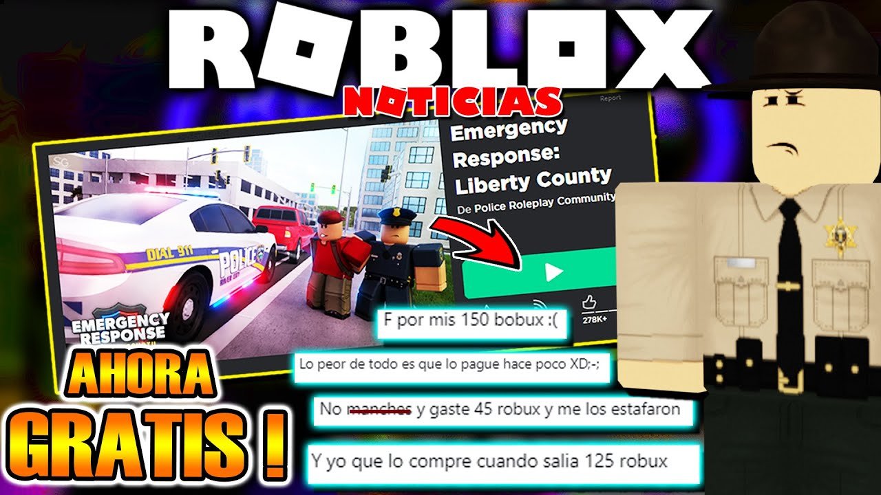 LIBERTY COUNTY AHORA SERÁ GRATIS En ROBLOX y Los JUGADORES TIRAN MUCHO HATE! 🔥 (Noticias)