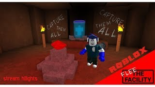 Stream Highlights (Moments, fails, more!) Roblox Stream! (im very stupid) (Flee the Facility)