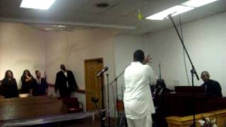 Prophet Carlton Funderburke at Word of Faith COGIC in Cedar Rapids Iowa